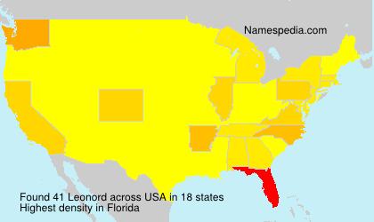Surname Leonord in USA