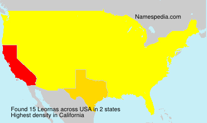 Surname Leornas in USA