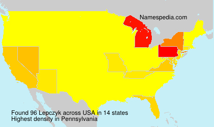 Surname Lepczyk in USA