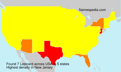 Surname Lepicard in USA