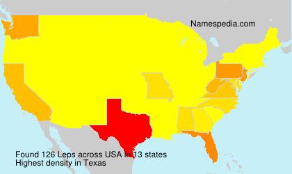 Familiennamen Leps - USA