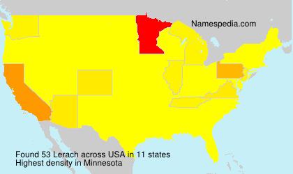 Familiennamen Lerach - USA