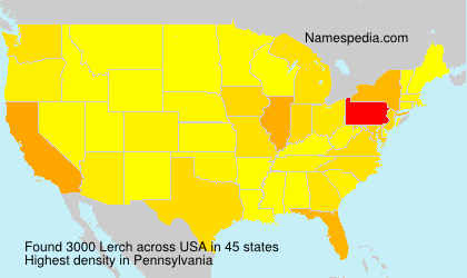 Surname Lerch in USA