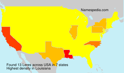 Surname Leres in USA