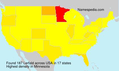 Familiennamen Lerfald - USA