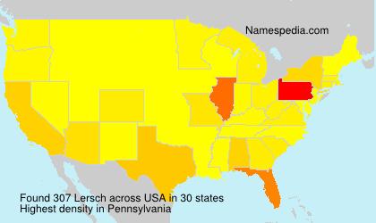 Familiennamen Lersch - USA