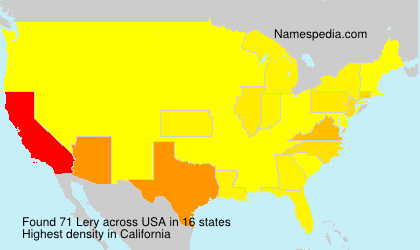 Surname Lery in USA
