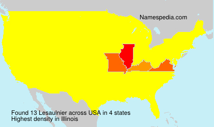 Surname Lesaulnier in USA