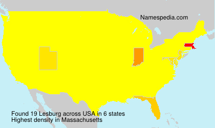 Surname Lesburg in USA