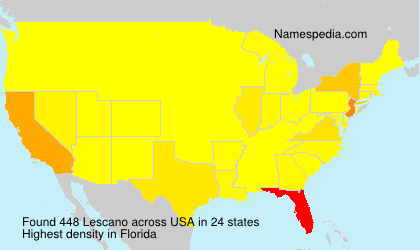 Surname Lescano in USA