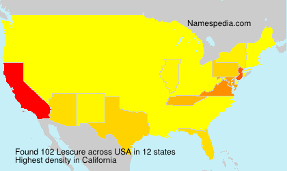 Surname Lescure in USA