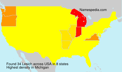 Surname Lesich in USA