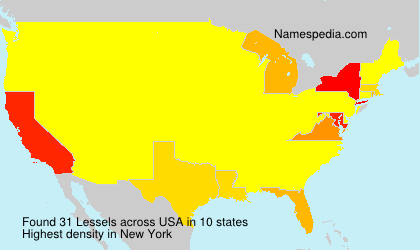 Surname Lessels in USA