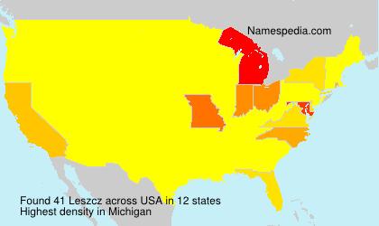 Familiennamen Leszcz - USA