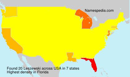 Surname Leszewski in USA