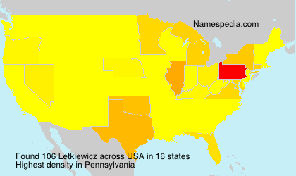 Surname Letkiewicz in USA
