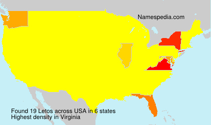 Surname Letos in USA