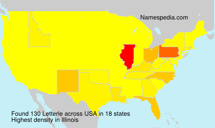 Surname Letterle in USA
