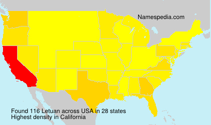 Surname Letuan in USA