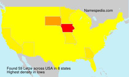 Surname Letze in USA