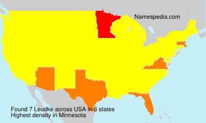 Surname Leudke in USA
