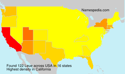 Surname Leue in USA