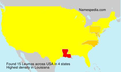 Surname Leumas in USA