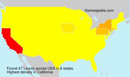 Surname Leunis in USA