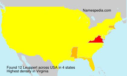 Familiennamen Leuppert - USA