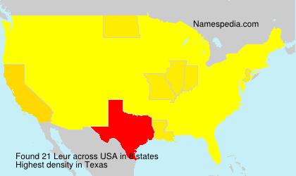 Surname Leur in USA