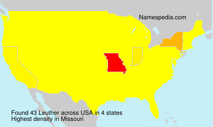 Surname Leuther in USA