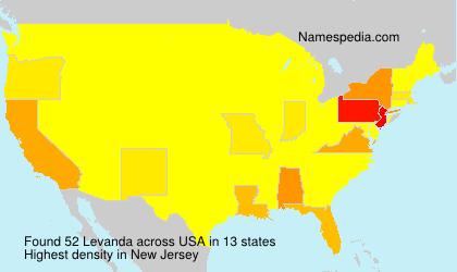 Surname Levanda in USA