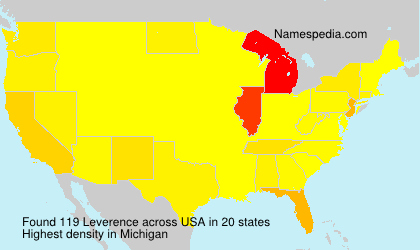 Surname Leverence in USA