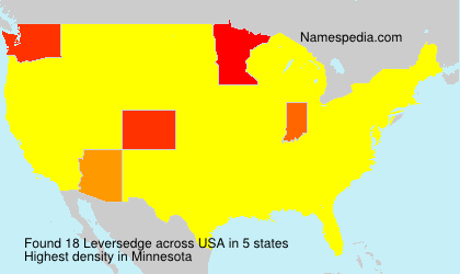 Surname Leversedge in USA