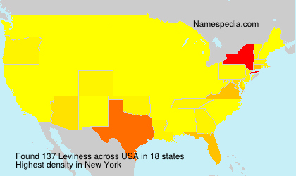 Surname Leviness in USA