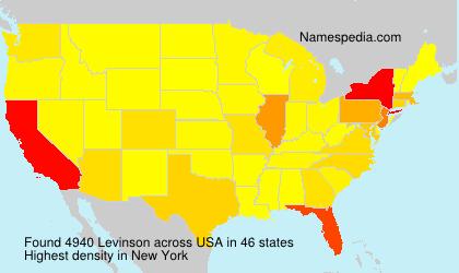 Familiennamen Levinson - USA