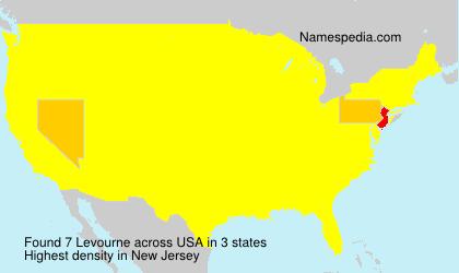 Familiennamen Levourne - USA