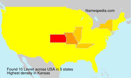 Surname Levret in USA