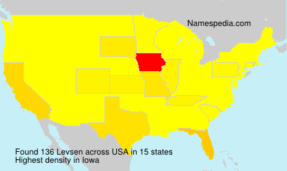 Familiennamen Levsen - USA