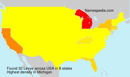 Familiennamen Levye - USA