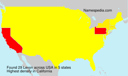 Surname Levyn in USA