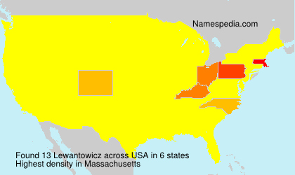 Surname Lewantowicz in USA