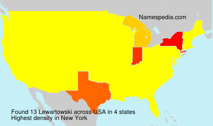Surname Lewartowski in USA