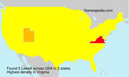 Surname Lewelt in USA