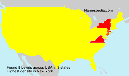 Surname Lewris in USA