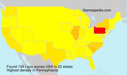 Surname Leya in USA