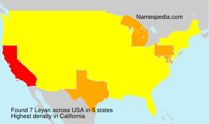 Surname Leyan in USA