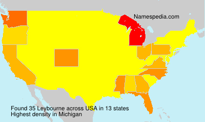 Surname Leybourne in USA