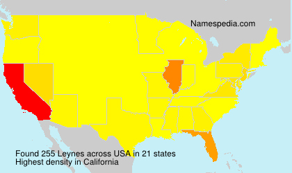 Surname Leynes in USA