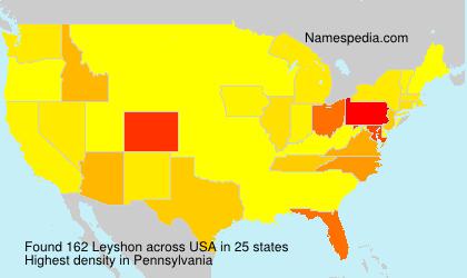 Familiennamen Leyshon - USA